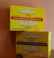 2 GRISI SULFUR SOAP ACNE TREATMENT BARS 4.4 oz / JABON AZUFRE PARA ACNE GRISI