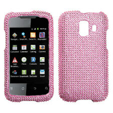For Huawei AT&T Fusion 2 Crystal Diamond BLING Hard Case Snap Phone Cover Pink