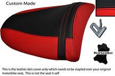 RED & BLACK 03-04 CUSTOM FITS KAWASAKI NINJA ZX6R PILLION LEATHER SEAT COVER