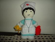 NURSE DOLL Handmade Knitted with Rosary Beads