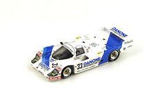 """Porsche 956b Nº33 """"danone"""" 4º le Mans 1986 1/43 Spark S4437"""
