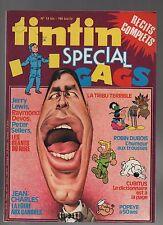 Super Tintin n°4. Spécial Gags. Lombard 1979. Jerry Lewis, Raymond Devos, Popeye