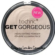 Technic Get Gorgeous Highlighting Powder Face Highlighter Shimmer Compact  NEW
