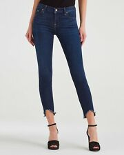 7 For All Mankind Womens Sz 25 The Ankle Skinny Jeans Super Skinny Wave Hem