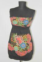 Desigual 22V2083 womens floral tunic dress Size XS cotton 55%
