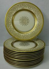 EDGERTON china E209-200 GOLD MEDALLION Set of Twelve (12) Service Plates 10-5/8""