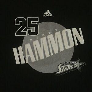San Antonio Silver Stars Becky Hammon Adidas T Shirt L Spurs Coach WNBA NWT