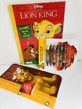 Lion King Simba Coloring Activity Book Crayons and Pouch Bag Disney