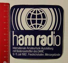 Aufkleber/Sticker: ham radio Inter. Amateurfunk-Ausstellung 1982 (050417169)