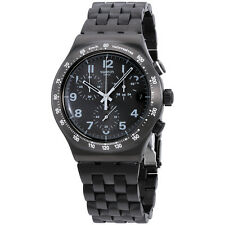 Swatch Irony Destination Soho Black Dial Stainless Steel Men's Watch YVM402G