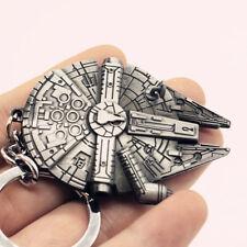 New Star Wars Spaceship Millennium Falcon Silver Metal Keychain Keyring Gifts