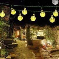 20ft 30 LED Solar String Fairy Lights Waterproof Warm White home Decor Wedding