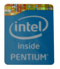 Intel Inside Pentium Logo Label Aufkleber Sticker Blau 15x20mm