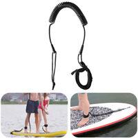 Ankle Leine SUP Leash Fesselriemchen Wassersport Spule Colied Stand Up Schwarz