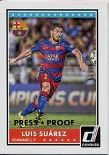 Donruss Soccer 2015 Gold Parallel Base Card [99] #70 Luis Suarez