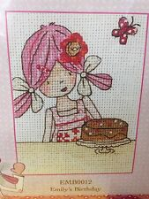 Anchor Emily Button Counted Cross Stitch Kit Emily's Birthday