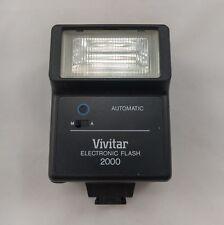 Vintage Vivitar 2000 Electronic Single Metal Shoe Mount Contact Universal Flash