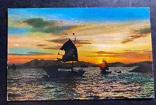 1961 Kai Tak Hong Kong Picture Postcard Cover To Philadelphia Pa USA Sunset