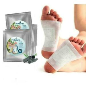 10Pcs Detox Foot Patch Pads Natural plant Herbal Toxin Removal Weight loss