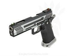 ARMORER WORKS HX1101 Full Silver Slide Airsoft Softair 1911 Pistol Green Gas