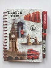 LONDON SCENE NOTEBOOK DIARY - LONDON SOUVENIRS NOTE PAD & PEN - BRITISH GIFT SET