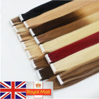 Tape In Skin Weft Remy Human Hair Extensions Ombre Balayage MultiColours UKStock