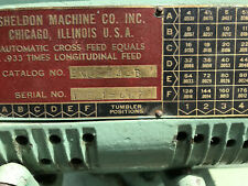 """New ListingSheldon 12"""" Lathe Model Exl-44B Serial # Txe17667"""