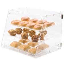 New 3 Tray Choice Bakery Counter Display Case Rear Door Donut Pastry Hotel Store