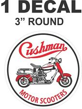 Round Cushman Motor Scooter Truckster Eagle Vinyl Decal