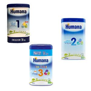 LATTE IN POLVERE HUMANA NATCARE 1 - 2 - 3 GR 1100 LATTANTI E PROSEGUIMENTO