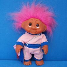DAM TROLL FIGUR 1990 AUFSTELLFIGUR 25 CM VINTAGE PINK HAIR FIGUR PUPPE DOLL