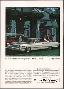 """1966 Lincoln Continental """"Look Your Best"""" Vintage Print Art Advertisement"""