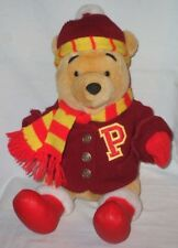 """Disney Winnie The Pooh Bear Plush 12"""" Red Letter Sweater Scarf"""