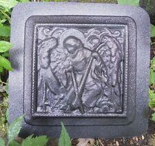 Plaster concrete  distressed angel plaque with sword plastic mold