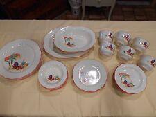 SALE NOS? VTG  32 pc dish set WS George canarytone Lido SW Mexican southwest 51