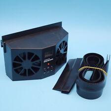 Black Type Solar Dual Fan Car Front/Rear Window Air Vent Cooler Fan Good Sale