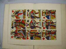 Histoire de la carte à jouer Guienne, Nicolaï, 1911 ed. originale dédicace main