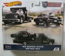 1966 Chevrolet Nova  Retro Rig Transport*RR* Hot Wheels 2019 Team Transport 1:64