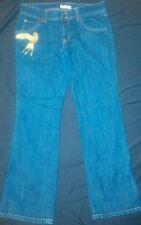 Dear AB Low Rise Bootcut Dark Denim Jeans with Gold Bird on Pocket girls Sz 10