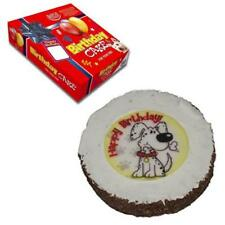 Hatchwell DOGGY BIRTHDAY CAKE Crunchy Cereal Biscuit Dog Puppy Treat Gift 10cm