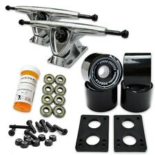 HD7 Longboard Combo set - Polished trucks (Solid Black)