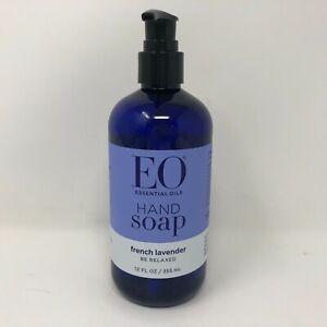 EO Essential Oils Liquid Hand Wash Soap French Lavender Pump Bottle 12oz