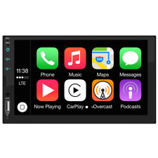 Automodz Apple CarPlay Double Din Car Stereo, 7 Inch Display with Bluetooth, GPS