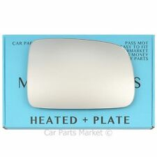 Right Driver side Flat Wing mirror glass for Honda CR-V 1996-2006 heated + plate