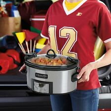 Crock-Pot SCCPVL610-S Programmable Cook and Carry Oval Slow Cooker, 6-Quart New