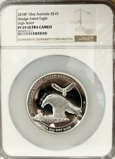 2018 Australia $10 Wedge-Tailed Eagle High Relief 10 oz Silver Coin - NGC PF 69