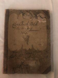 Handwritten 19th Century German Journal