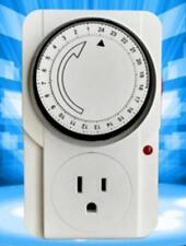 24 Hr US Plug in Mechanical Grounded Programmable Timer Indoor S