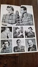 1939 ORIGINAL PUBLICITY PHOTO NBC FIBBER MCGEE & MOLLY BOOMER GILDERSLEEVE