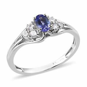 1 ct. NATURAL GENUINE AA TANZANITE & TOPAZ DINNER COCKTAIL GYPSY RING